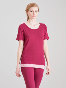 Asquith Bend It Tee - Beetroot