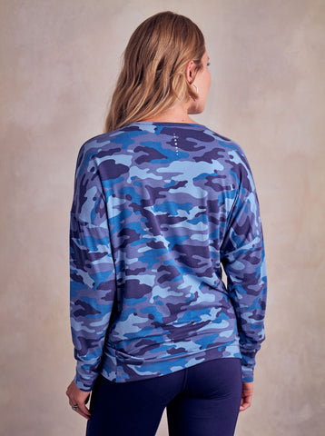 Asquith Long Sleeve Batwing - Camo