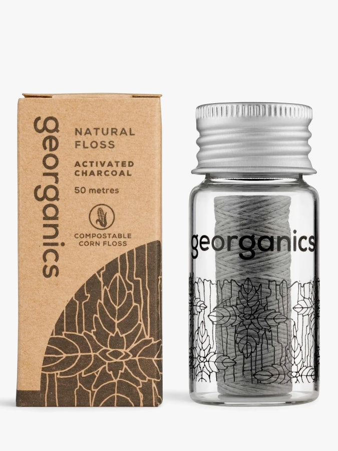 Georganics Natural Dental Floss - Activated Charcoal