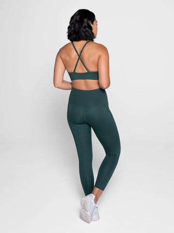 Girlfriend Collective Compressive High-Rise 7/8 Leggings - Moss
