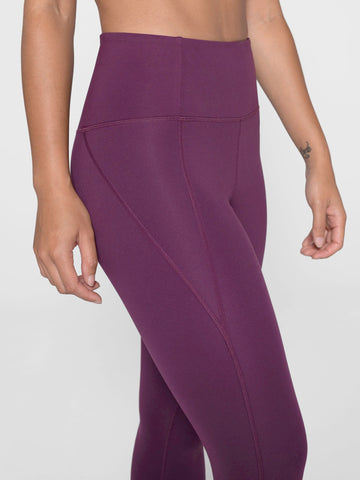 Girlfriend Collective Compressive High-Rise Leggings - Plum