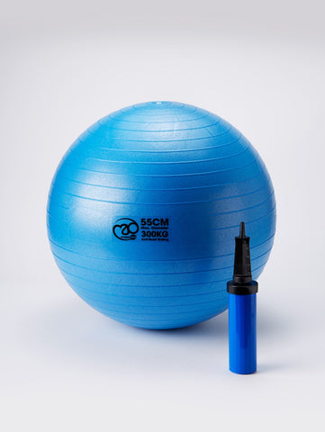 Yoga-Mad Anti-Burst Swiss Ball with Pump - 55cm