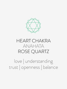 Wanderlust Life Heart Chakra Anahata Rose Quartz necklace