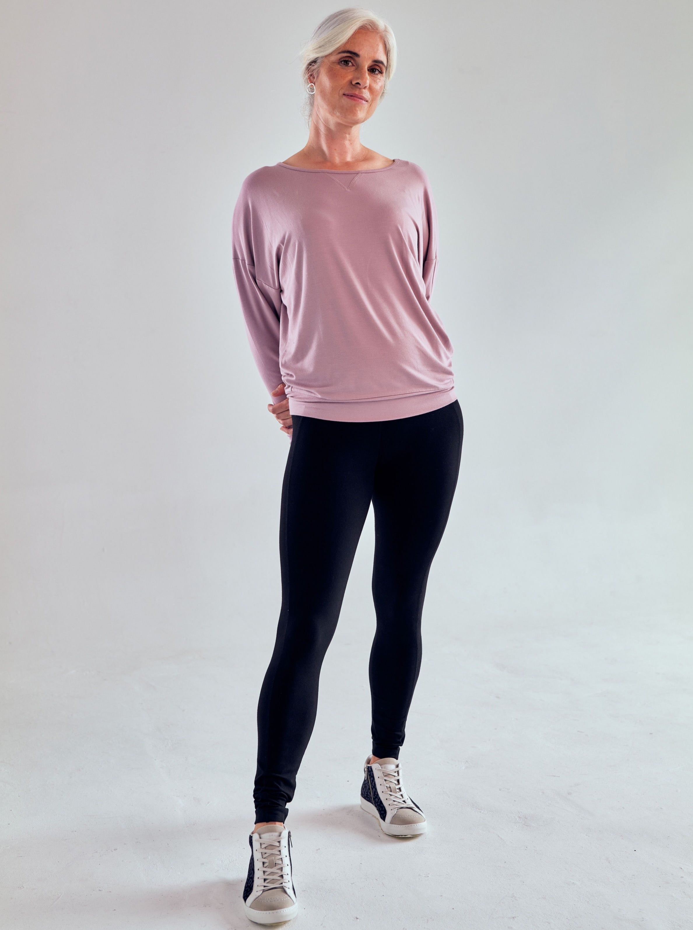 Asquith Long Sleeve Batwing - Blush