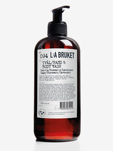 L:a Bruket Hand and Body Wash 450ml - Sage, Rosemary & Lavender