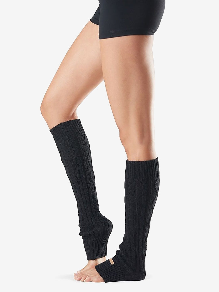 Toesox Knee High Leg Warmers - Black - One Size
