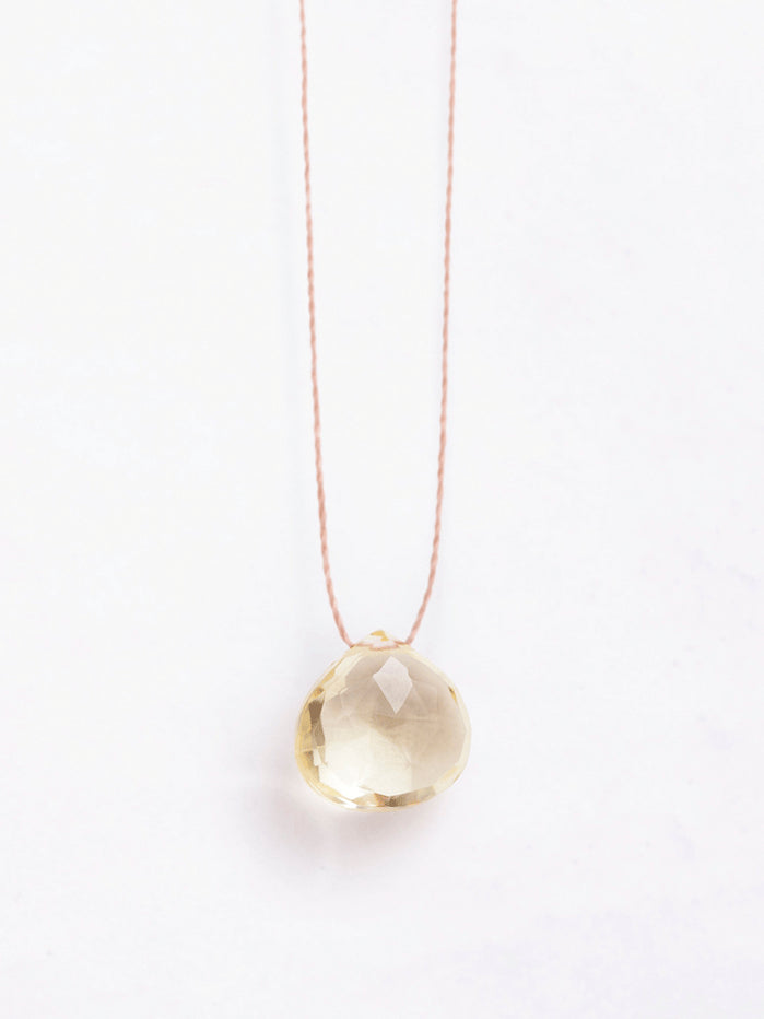 Wanderlust Life Solar Plexus Manipura Lemon Quartz necklace