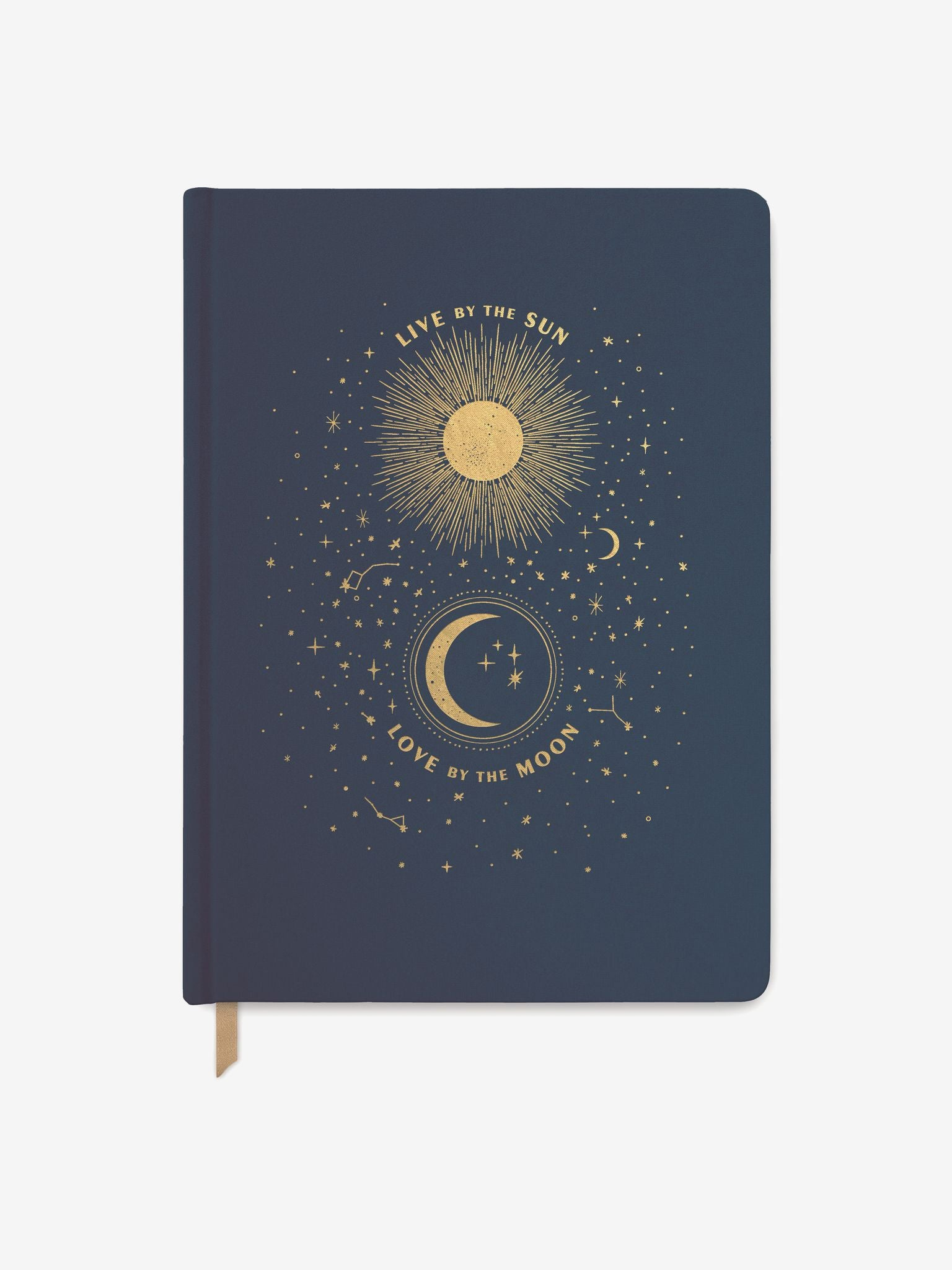 Live by the Sun, Love by the Moon Large Cloth Journal - Navy