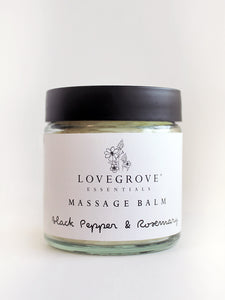 Lovegrove Essentials Massage Balm - Black Pepper &  Rosemary