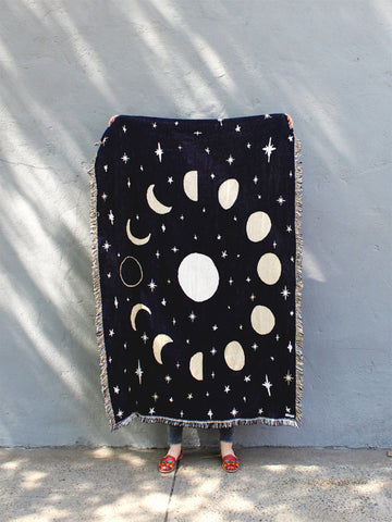 Calhoun & Co Throw Blanket - Moon Phases