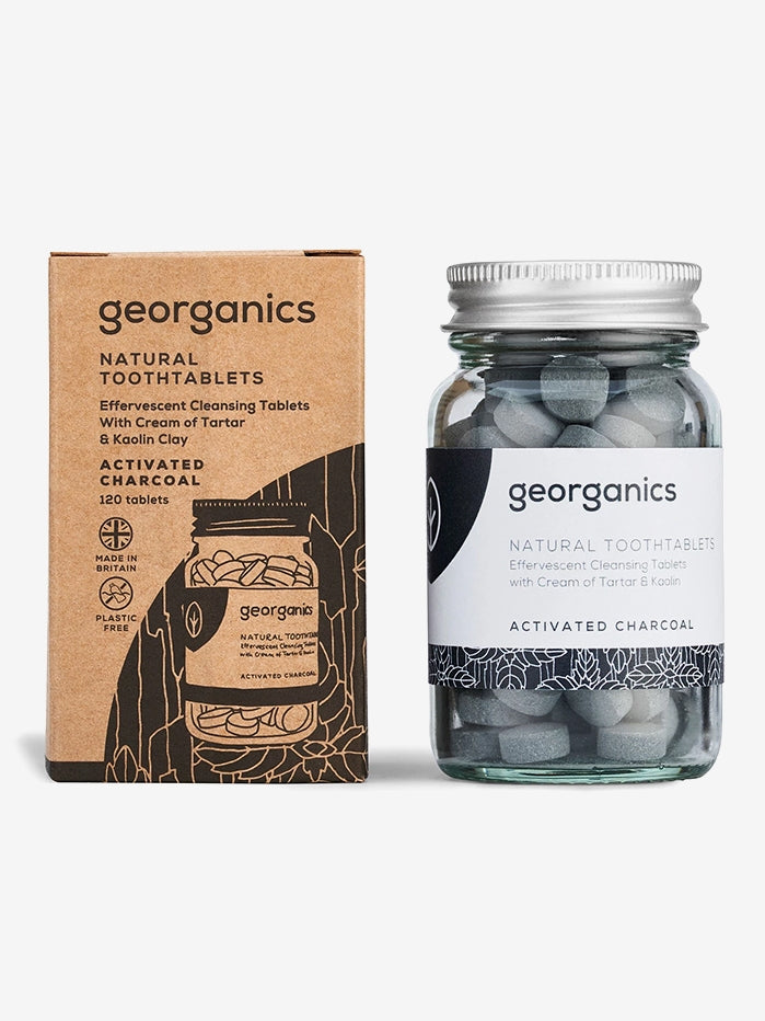 Georganics Natural Tooth Tablets - Activated Charcoal