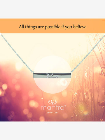 Mantra Jewellery Believe Bar Necklace
