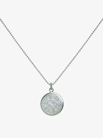 Mantra Jewellery Love Mandala Necklace - Sterling Silver