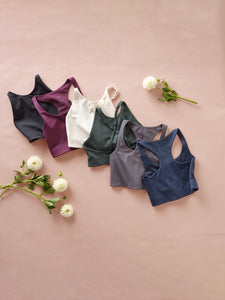 Girlfriend Collective Paloma Bra - Moon