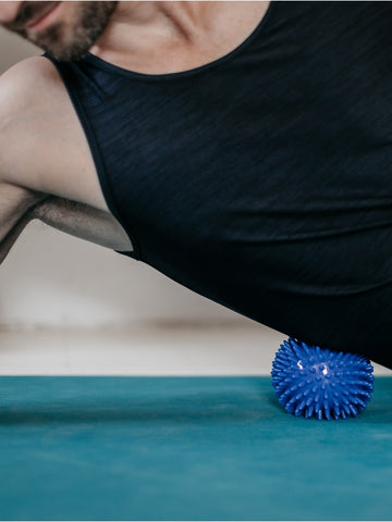 Yogamatters Spiky Massage Ball Blue Large (9cm)