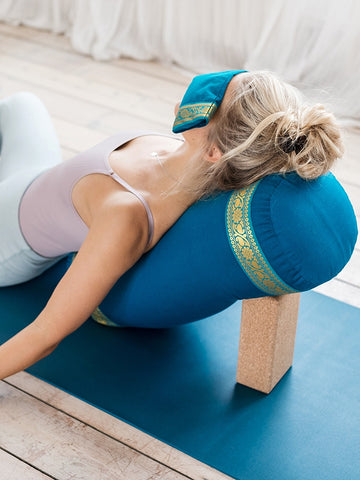 Yogamatters Bolster with Gold Trim