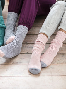 Yogamatters Organic Cotton Hand-Knitted Socks - Grey Ice