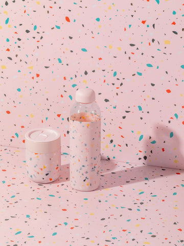 W&P Porter Water Bottle - Terrazzo Blush