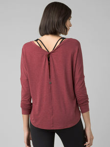 PrAna Rogue Long Sleeved Top Spiced Wine