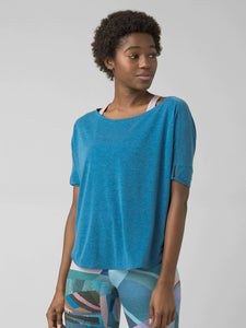 PrAna Rogue Short Sleeved Top - Admiral Blue