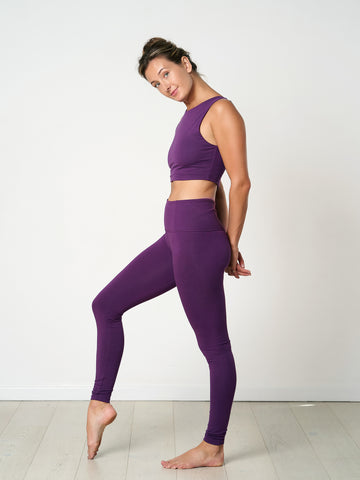 Gossypium Rhythm Yoga Leggings - 75cm - Grape
