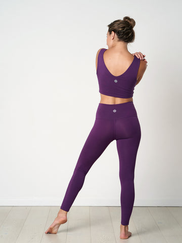 Gossypium Rhythm Yoga Leggings - 65cm - Grape