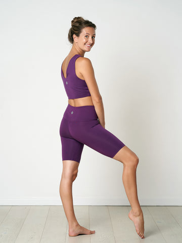 Gossypium Rhythm Yoga Shorts - Grape
