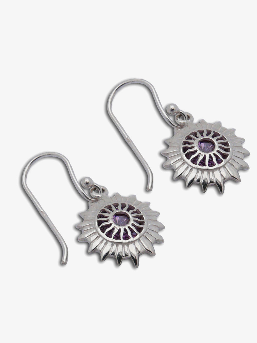 Shanti Boutique Good Vibes Crown Chakra Earrings
