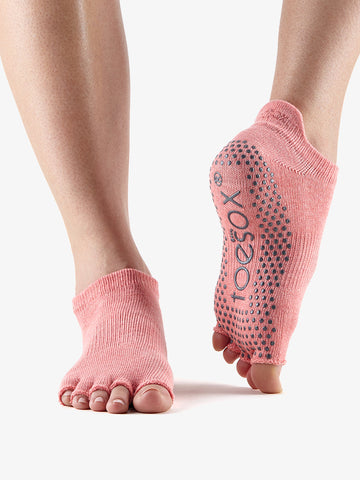 ToeSox Half Toe Low Rise - Melon