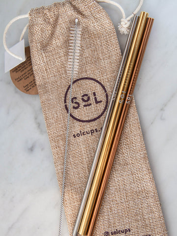 SoL Cups Reusable Straw Set