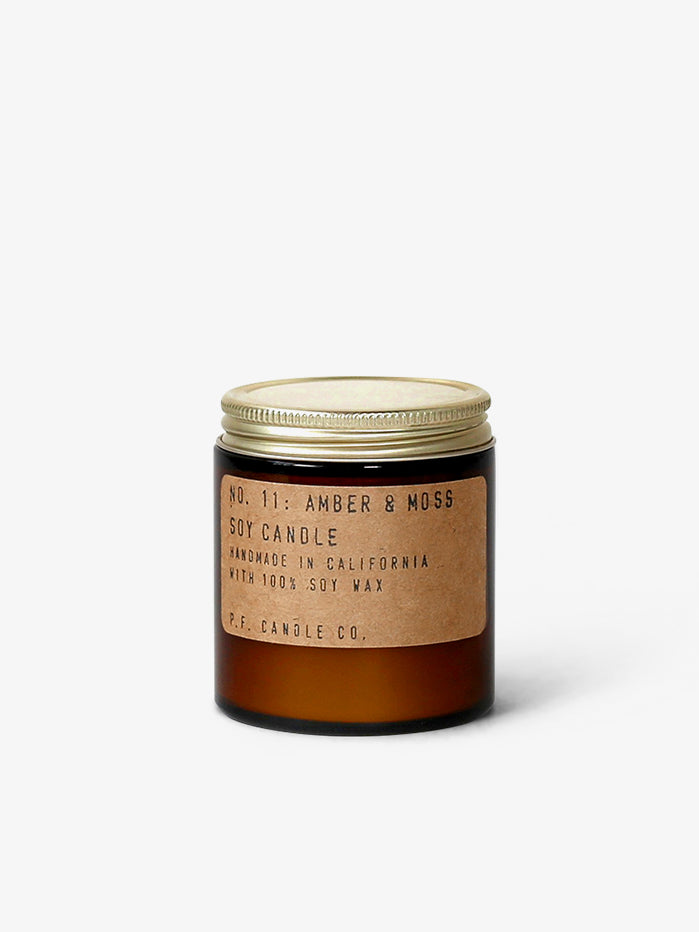 P.F. Candle Co 3.5oz Soy Candle - Amber & Moss