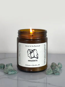 Species by the Thousands Crystal Candle - Amazonite