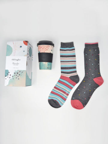 Thought Arrah Bamboo Cup & Socks
