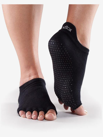 ToeSox Half Toe Low Rise - Black