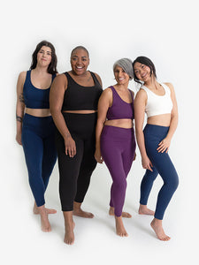 Yogamatters Eco High Waisted 7/8 Yoga Leggings  - Black