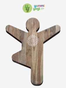 Yummi Yogi Wooden Cutting Board