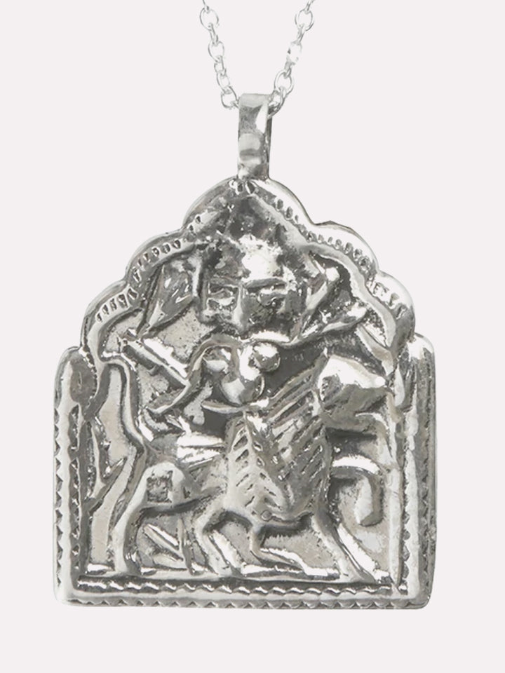 Goddess Charms Warrior Goddess Pendant Necklace - Silver