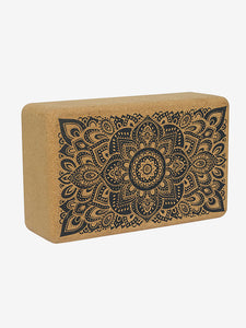 Yoga Design Lab Cork Brick - Mandala Black