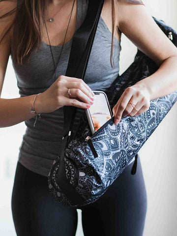 Yoga Design Lab Mat Bag - Mandala Charcoal