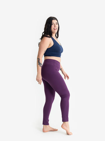 Yogamatters Eco High Waisted Yoga Leggings - Purple