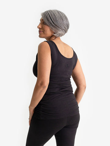 Yogamatters Eco Support Yoga Vest - Black