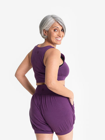 Yogamatters Eco Cropped Yoga Top - Purple