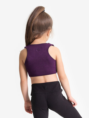 Yogamatters Girls Eco Cropped Yoga Top  - Purple