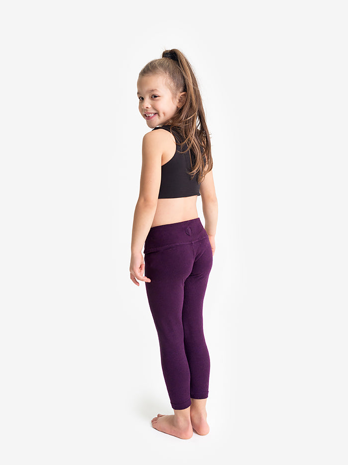 Yogamatters Girls Eco High Waisted Yoga Leggings   - Purple