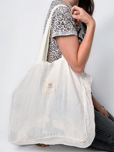 Yogamatters Natural Linen Packable Tote