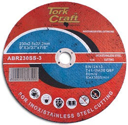 Tork Craft CUTTING DISC STAINLESS STEEL 230 x 2.5 22.22MM
