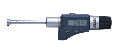 DIGITAL THREE POINTS INTERNAL MICROMETER SET WITH SETTING RINGS 50-100