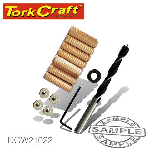 Tork Craft DOWELING ACCESSORY KIT 10MM - 22 PIECE (BIRCH WOOD)