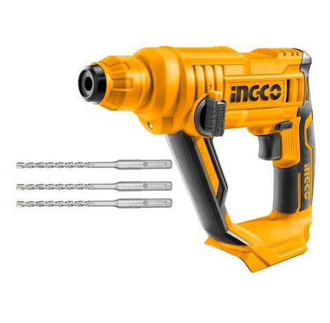 Special - INGCO - Rotary Hammer with 3 Drill Bits (Cordless) - 20V