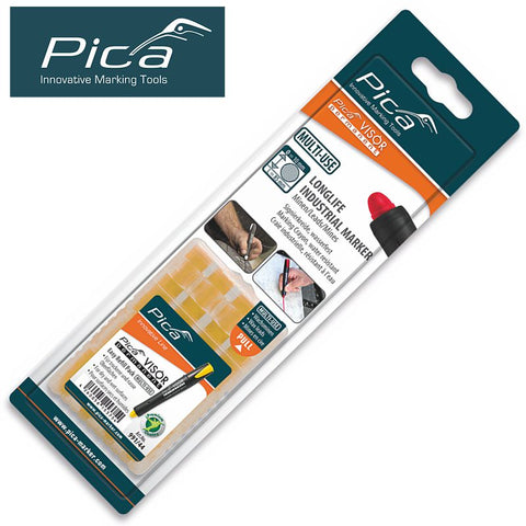 PICA VISOR PERMANENT MARKER REFILLS YELLOW 4PC IN BLISTER